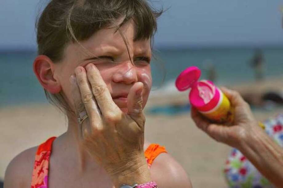 2. Sunscreen: It's everywhere in the summer when the sun makes a rare appearance. Oh, look. There's a glob on my sleeve now.  (Getty Images) Photo: Getty Images