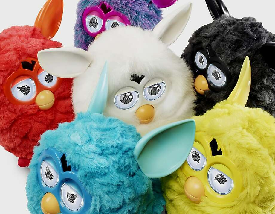 Furbys, popular in the '90s, are back at twice the price. Photo: Bloomberg
