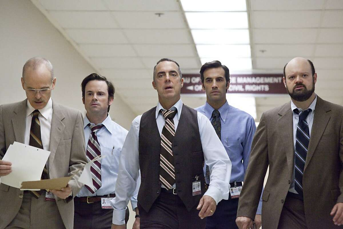 """(L-r) ?...½ELJKO IVANEK as Robert Pender, MATT NOLAN as Peter Genco, TITUS WELLIVER as Bates, J.R. CACIA as Brice and VICTOR McCAY as Malick in """"ARGO,"""" a presentation of Warner Bros. Pictures in association with GK Films, to be distributed by Warner Bros. Pictures."""