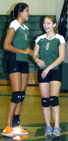 New Milford High School volleyball's victory over visiting Notre Dame of Fairfield, Oct. 5, 2012 Photo: Norm Cummings