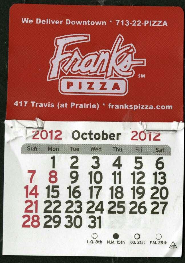 Frank's Calendar