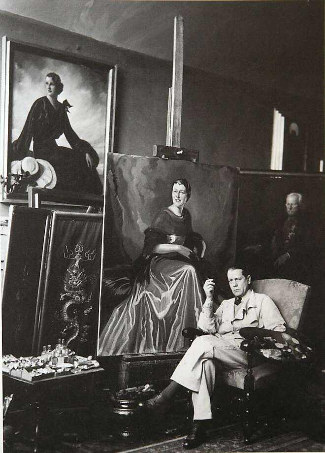 Stefan Norblin, a renowned painter before World War II, was married to a movie star. Photo: Liz Hafalia, The Chronicle