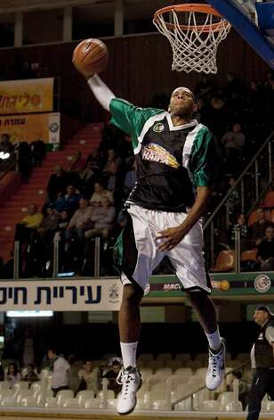 Tyler skipped his senior year of high school to play for Maccabi Haifa. Photo: Tara Todras-Whitehill, ASSOCIATED PRESS