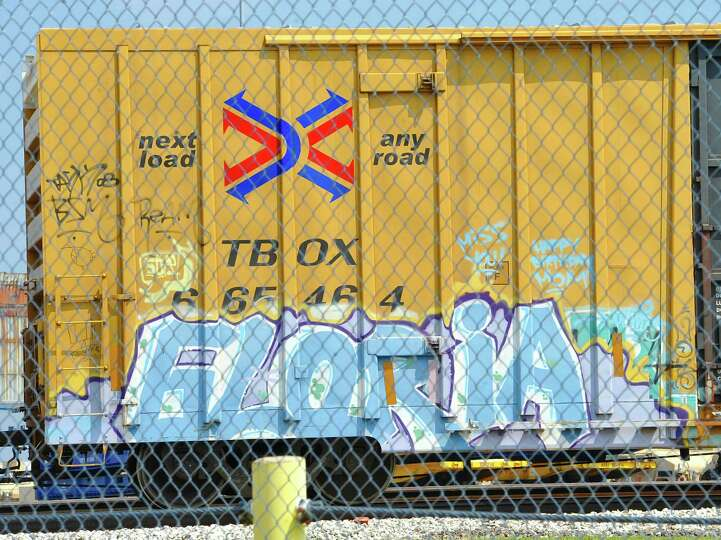 This boxcar was seen over behind the football stadium at Lamar University. Dave Ryan/The Enterpri