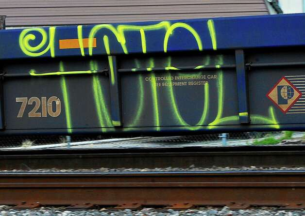 This flat car was seen rolling on the tracks that run between the Police Station and the Jefferson County Sheriffs offices. Dave Ryan/The Enterprise
