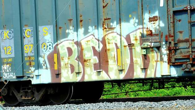 This boxcar was seen along the tracks that run semi parallel to First Street in Beaumont.  Dave Ryan/The Enterprise