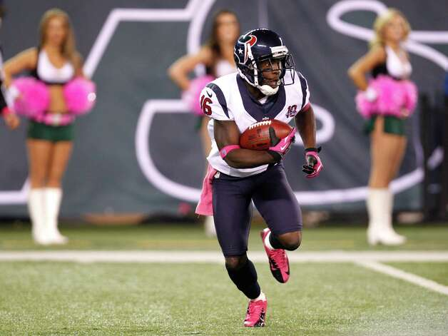Return specialist Trindon Holliday was released by the Texans on Wednesday, making room for the team to activate guard Cody White. Photo: Brett Coomer, Houston Chronicle / © 2012  Houston Chronicle