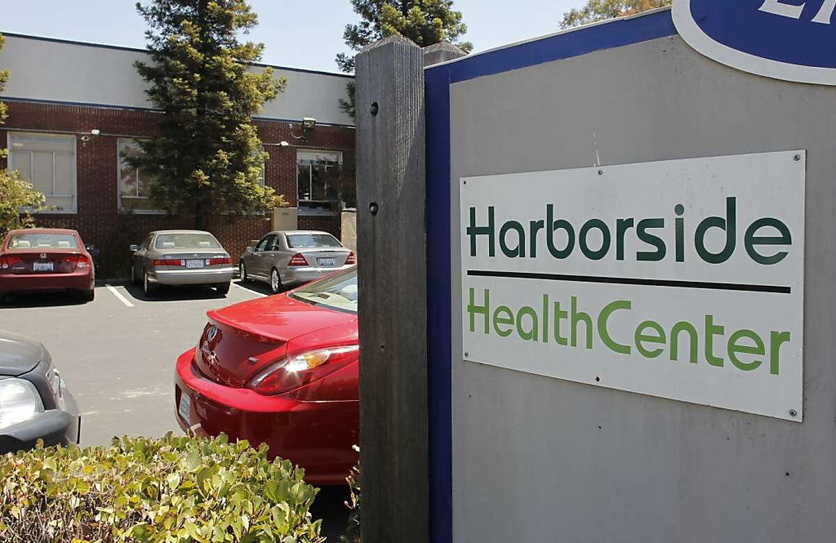 The Harborside Health Center along Embarcadero Road, in Oakland, Calif. on Wednesday July 11, 2012. Harborside Health Center, a medical marijuana dispensary was served with a notice taped to the front door reading,