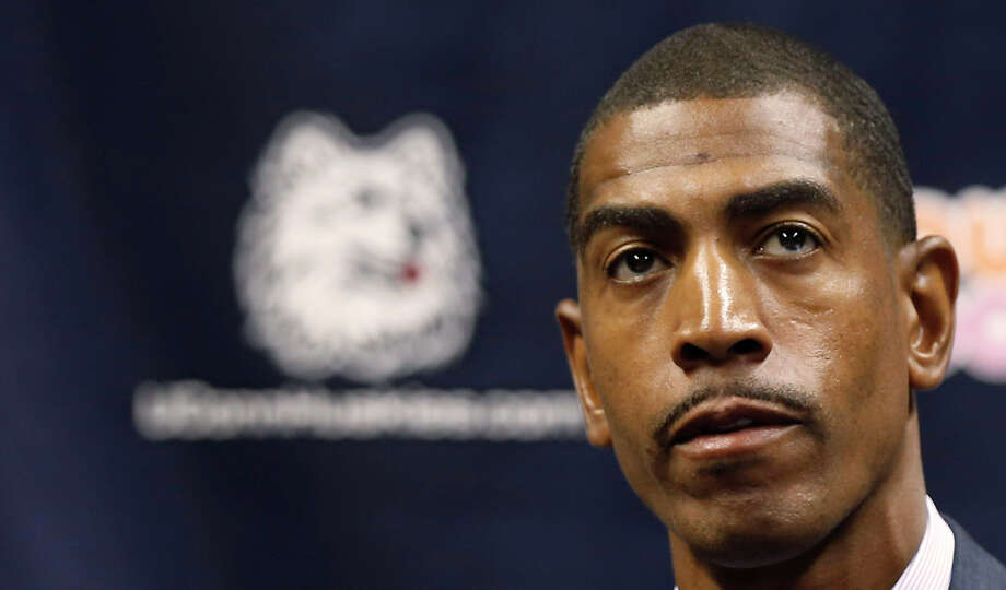 STORRS, CT- SEPTEMBER 13:  Newly named University Of Connecticut basketball coach Kevin Ollie attends a news conference where basketball coach Jim Calhoun announced his retirement at a news conference on September 13, 2012 in Storrs, Connecticut.  (Photo by Winslow Townson/Getty Images) Photo: Winslow Townson, Getty Images / 2011 Getty Images