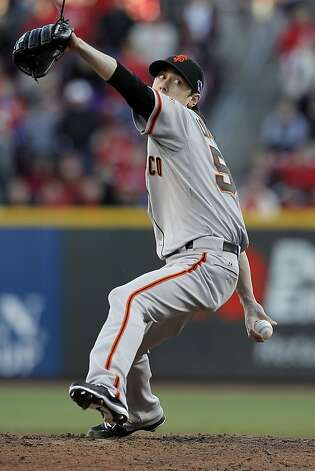 Tim Lincecum returned to his Cy Young form, getting the win in long relief. Photo: Michael Macor, The Chronicle