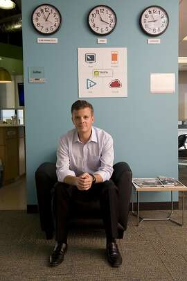 TRUSTe CEO Chris Babel poses for a portrait in the TRUSTe  office in San Francisco.