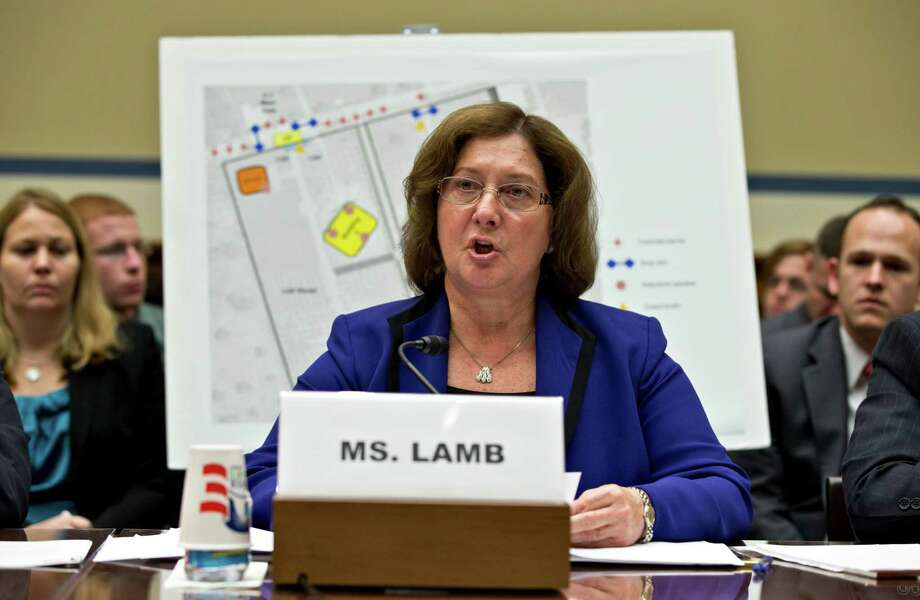 Charlene Lamb, deputy assistant secretary for international programs at the State Department's Bureau of Diplomat Security, testifies on Capitol Hill in Washington, Wednesday, Oct. 10, 2012, before the House Oversight and Government Reform Committee hearing to investigate the Sept. 11, 2012, attack on the American consulate in Benghazi, Libya, that resulted in the death of U.S. Ambassador Christopher Stevens and other Americans.   (AP Photo/J. Scott Applewhite) Photo: J. Scott Applewhite