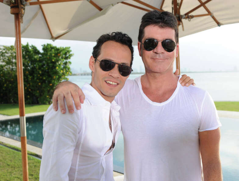 THE X FACTOR: JUDGES ROUND: L-R: Guest mentor Marc Anthony joins Simon Cowell on the JUDGES ROUND of