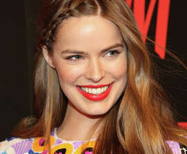 A break through? Model Robyn Lawley, a not-exactly- elephantine size 12, appears in this year's Sports Illustrated swimsuit issue.