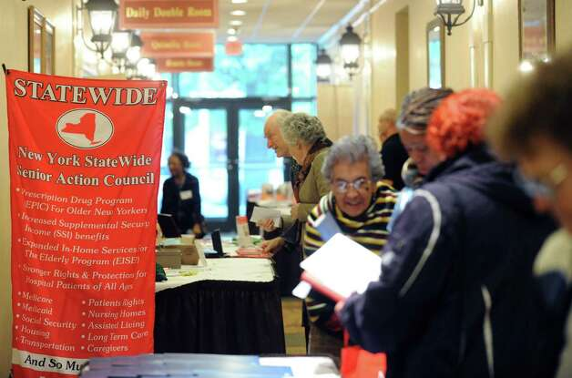 Seniors attend the New York Senior Action Council's 40th annual convention in Saratoga Springs, NY Wednesday Oct. 10, 2012. (Michael P. Farrell/Times Union) Photo: Michael P. Farrell