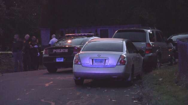 A man who had been shot multiple times was found in a running car on Sunshine Circle Wednesday night. Photo: Steve Krauchick / Connecticut Post contributed