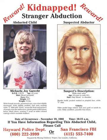 A missing-persons poster shows Michaela Garecht and a sketch of her potential abductor. Garecht was kidnapped in 1988 and never found. Photo: Courtesy Photo