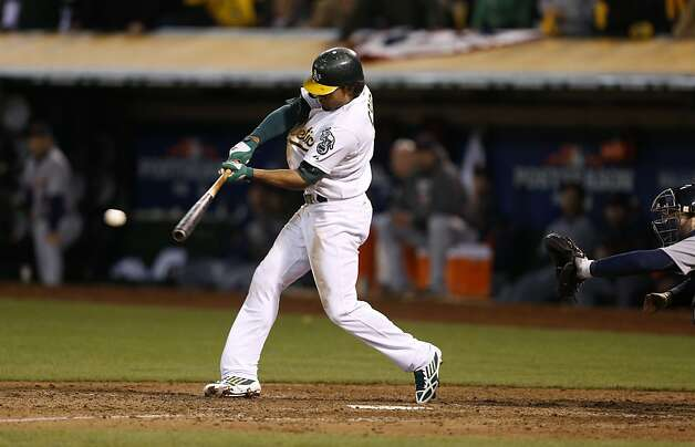 Coco Crisp has seemingly been in the middle of every memorable moment in this series, and Wednesday was no different as he delivered the game-winning hit in the bottom of the ninth. Photo: Beck Diefenbach, Special To The Chronicle