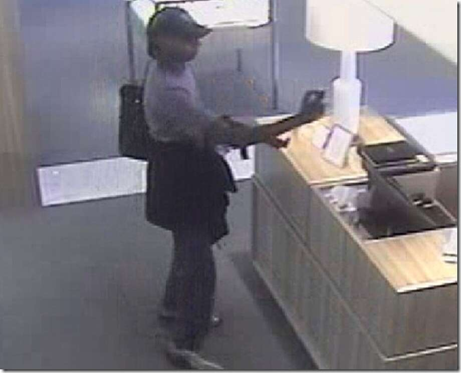 A surveillance image shows the man accused in the robbery at a Tiffany and Co. store in the Woodlands on Wednesday. (Photo provided by the Montgomery County Police Reporter)