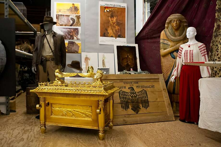 Indiana Jones props at Skywalker Ranch include the iconic costume and the original ark. Photo: Lucasfilm