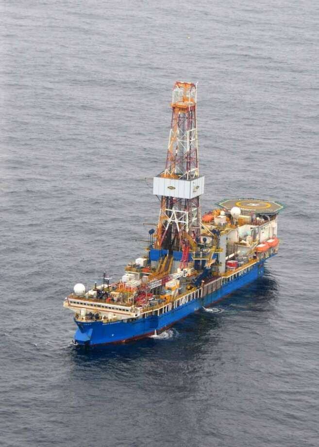 The drillship Noble Discoverer is boring a well in the Chukchi Sea north of Alaska. (Photo: Jennifer A. Dlouhy / The Houston Chronicle) (Jennifer A. Dlouhy)
