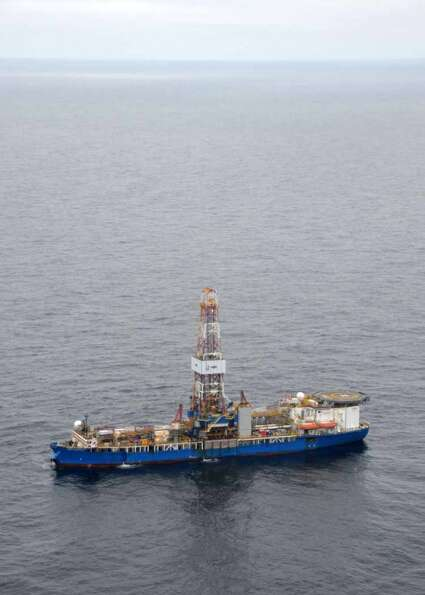 The drillship Noble Discoverer is boring a well in the Chukchi Sea north of Alaska. (Photo: Jennifer