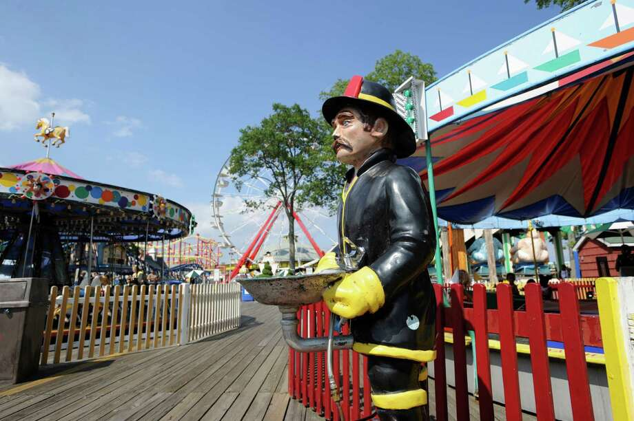 "A water fountain at Playland in Rye, N.Y., on Aug. 5, 2010. Westchester County is looking into ""reinventing"" Playland, which hasn't posted a profit in decades. Photo: File Photo, ST / Greenwich Time File Photo"