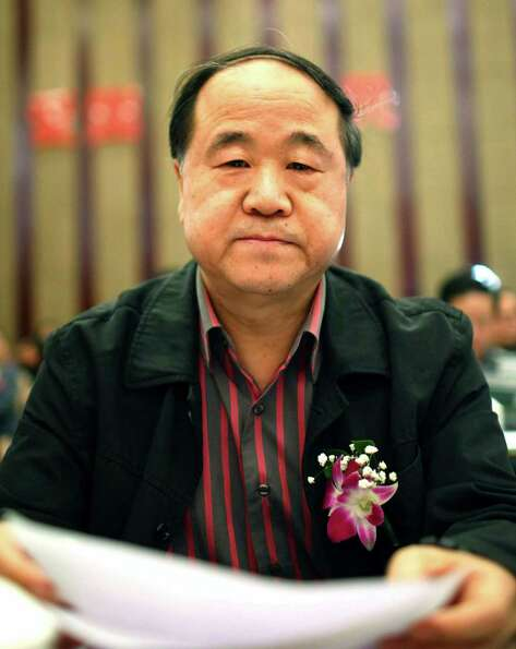 In this photo taken Sunday, March 25, 2012, Chinese writer Mo Yan attends a novel writing competitio
