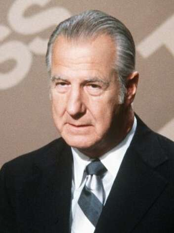 FILE--Former Vice President Spiro Agnew is shown on NBC's 'Meet The Press' in this 1980 file photo. Both Agnew and government lawyers investigating him were preoccupied with leaks to the press during the months before the vice president resigned in 1973 to escape prison for tax evasion and bribery. Their concerns, detailed in correspondence obtained by an online news service using the Freedom of Information Act, are just a portion of the information contained in Agnew's FBI file.  (AP Photo/File)  HOUCHRON CAPTION  (02/16/2003):  Tax evasion cost Spiro Agnew the vice presidency. (AP)