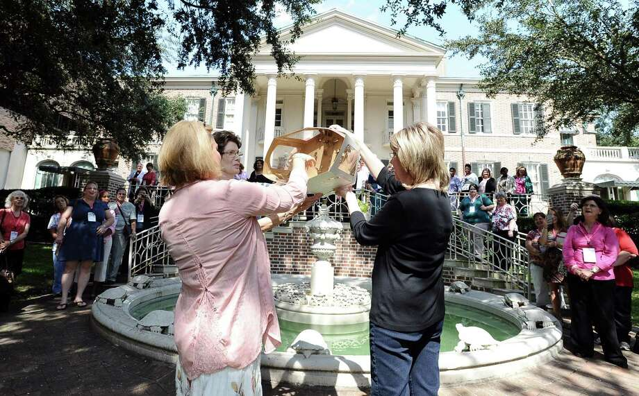 CHRISTUS Hospital- St. Elizabeth & St. Mary held a Ladies Garden Party with a butterfly release for more than 100 women battling breast cancer.  This party was held at the Phelan Mansion on Wednesday, October 10, 2012. Photo taken: Randy Edwards/The Enterprise Photo: Randy Edwards