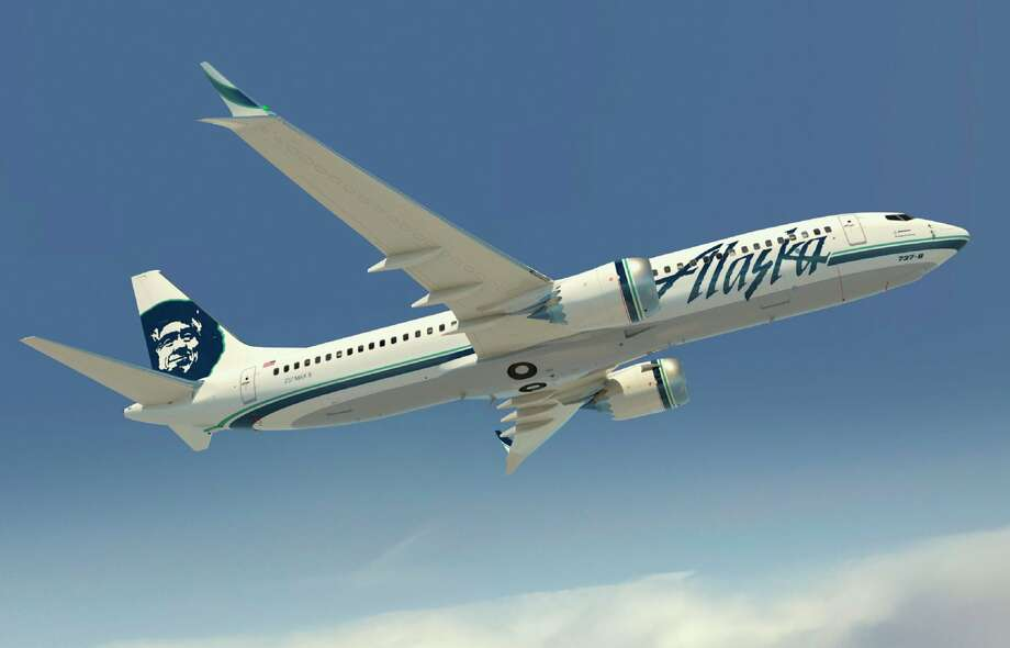 A depiction of a future Alaska Airlines Boeing 737-MAX8. Photo: The Boeing Co. / Copyright © 2012 Boeing. All Rights Reserved.