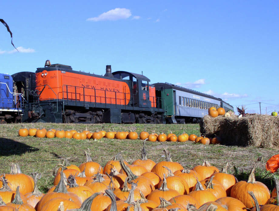 Need a pumpkin? Kids of all ages are encouraged to wear their costumes while riding the Danbury Railway Museum's vintage train to its pumpkin patch. The rides start Saturday at the museum on White Street in Danbury. Photo: Contributed Photo