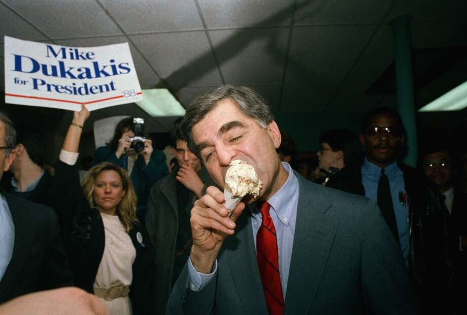 Ice cream is a big favorite too, even among the losers like Michael Dukakis. (AP) Photo: Elise Amendola, ASSOCIATED PRESS / AP1988