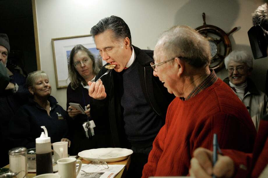 You'd think Romney would know that one of the bigger sins is stealing an old man's pancake. Photo: LM Otero, ASSOCIATED PRESS / AP2008