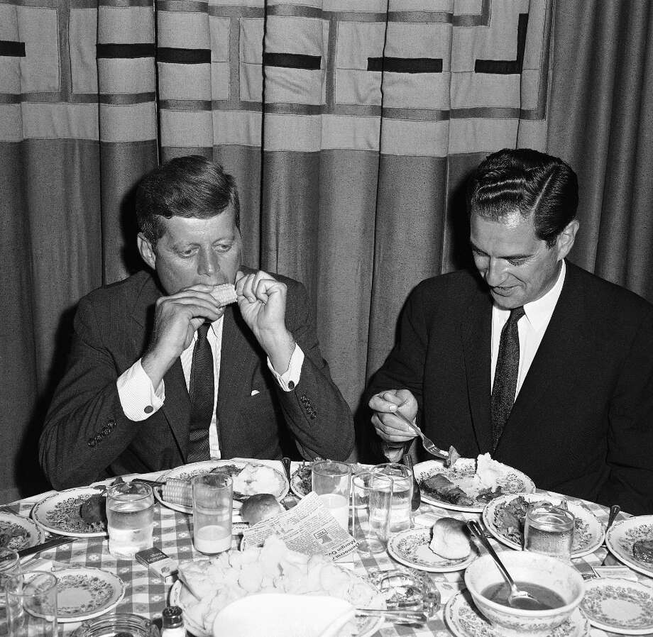 John F. Kennedy — Embodying a new generation of leadership, John and Jackie Kennedy hired a French chef to execute the classics with skill and taste. Photo: Anonymous, ASSOCIATED PRESS / AP1960