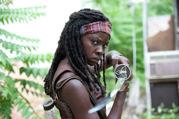 "Michonne (Danai Gurira) is one of the new characters on ""The Walking Dead."" Photo: AMC"