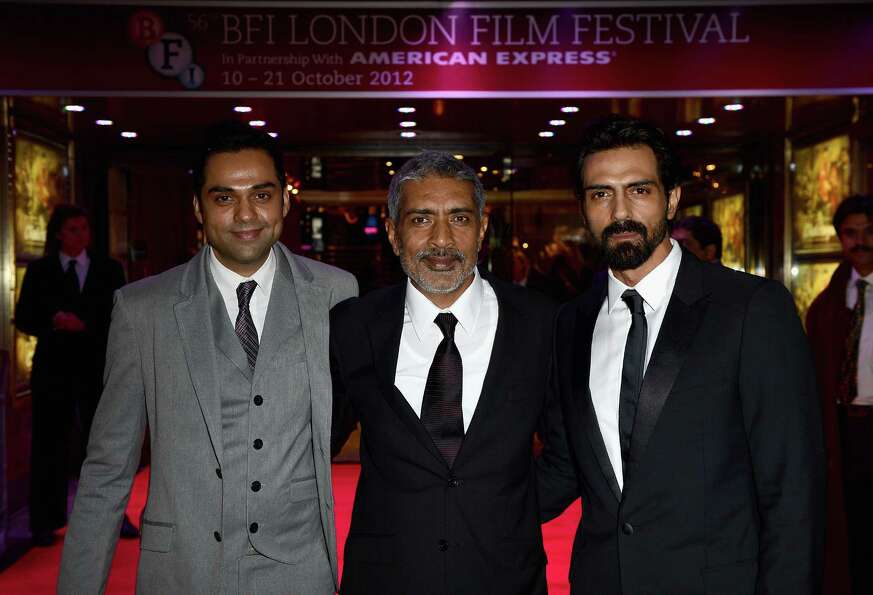 Actor Abhay Deol, director Prakash Jha and actor Arjun Rampal attend the