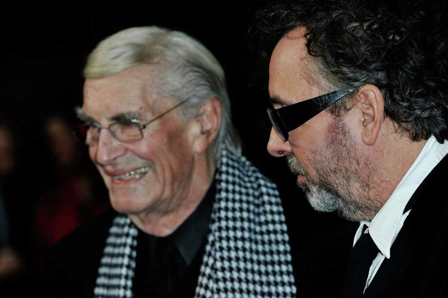 Actor Martin Landau and filmmaker Tim Burton attend the 'Frankenweenie 3D' which opens the 56th BFI London Film Festival at Odeon Leicester Square on Wednesday in London.  (Photo by Gareth Cattermole/Getty Images for BFI) Photo: Gareth Cattermole, Ap/getty / 2012 Getty Images