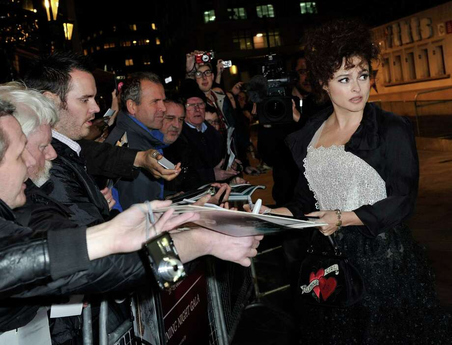 Helena Bonham Carter attends the opening night film of the 56th BFI London Film Festival 'Frankenweenie 3D' at Odeon Leicester Square on Wednesday in London.  (Photo by Gareth Cattermole/Getty Images for BFI) Photo: Gareth Cattermole, Ap/getty / 2012 Getty Images