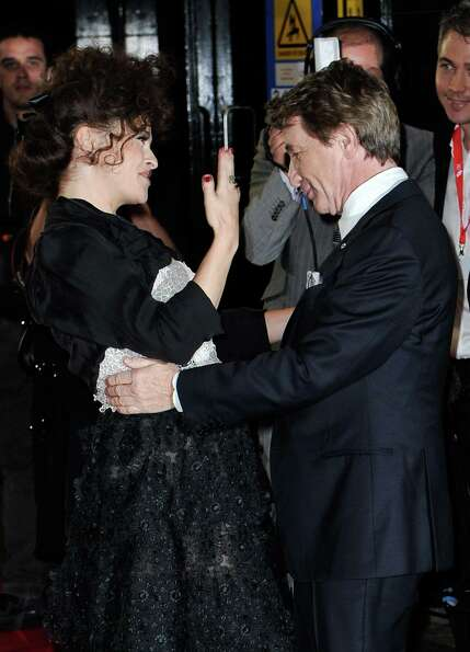 :  Helena Bonham Carter and Martin Short attend the opening night film of the 56th BFI London Film F