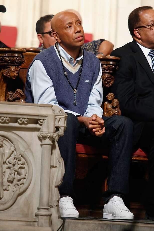 NEW YORK, NY - JANUARY 15:  Russell Simmons attends the 2012 Dr. Martin Luther King Jr. Service at Riverside Church on January 15, 2012 in New York City.  (Photo by Cindy Ord/Getty Images) Photo: Cindy Ord, Getty Images