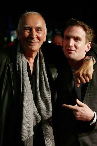 LONDON, ENGLAND - OCTOBER 11:  Actor Frank Langella and filmmaker Jake Schreier attend the premiere