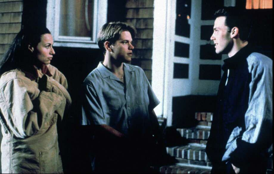 398311 (BC-BPI-OSCARS-NOMINEES-TREND) From left to right, MINNIE DRIVER, MATT DAMON and BEN AFFLECK in Gus Van Sant's 'GOOD WILL HUNTING.' BPI DIGITAL PHOTO  MIRAMAX FILMS CR: GEORGE KRAYCHYK Photo: GEORGE KRAYCHYK / MIRAMAX FILMS