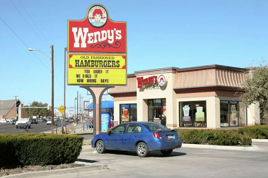 The Wendy's company PAC heavily favors Republicans, according to Forbes, which gave the brand a red fork. Cindeka Nealy/Midland Reporter-Telegram Photo: Cindeka Nealy, Cindeka Nealy/Midland Reporter-Telegram / Cindeka Nealy/Reporter-Telegram