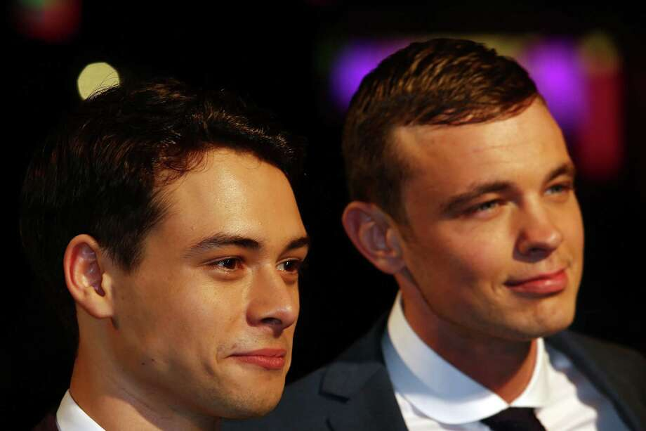 Actors  Nico Mirallegro and Oliver Heald attends the premiere of 'Spike Island' during the 56th BFI London Film Festival at Odeon West End on Thursday in London. Photo: Tim Whitby, Getty / 2012 Getty Images
