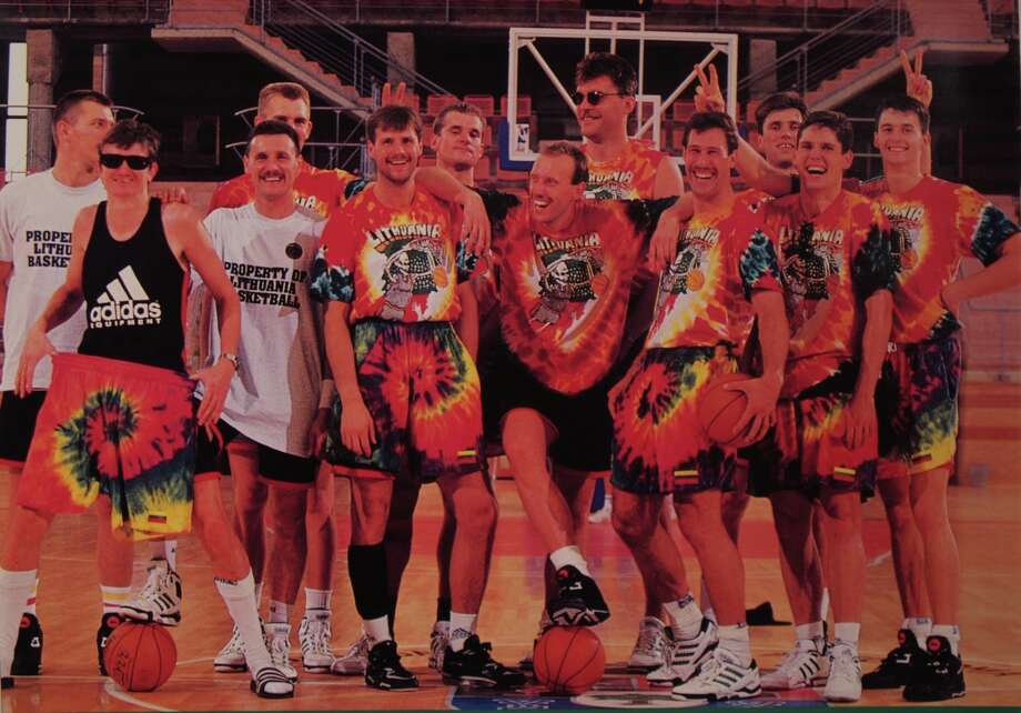 """The Other Dream Team"" does more than pay tribute to the tie-dyed underdogs of the 1992 Lithuanian Olympic men's basketball team. Photo: The Film Arcade"