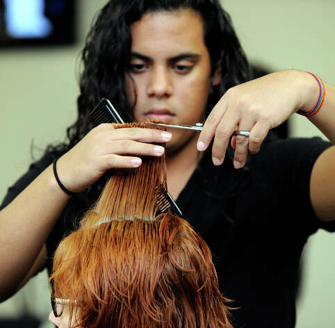 Bryant Martinez, of Danbury, a student at Paul Mitchell The School, will be graduating shortly. Photo: Carol Kaliff