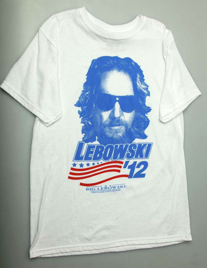"If you're staying out of the election this year because you don't like either candidate, there's still a campaign t-shirt out there for you. Lebowski '12 - $10 at JC Penney. Abide by ""The Big Lebowski"" and vote Dude, dude. Photo: JUANITO M GARZA / San Antonio Express-News"