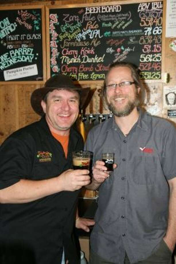 Strange Brewing co-founder Tim Myers and Freetail head brewer Jason Davis will be doing a collaboration beer in the coming year. Details have not yet been announced.  (Markus Haas / San Antonio Express-News)