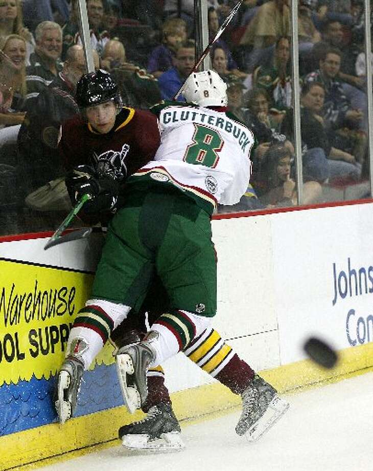 Cal Clutterbuck Cal Clutterbuck, now one of the NHL's best hitters, honed his craft with the Aeros, quickly becoming a fan favorite for his gritty two-way play.